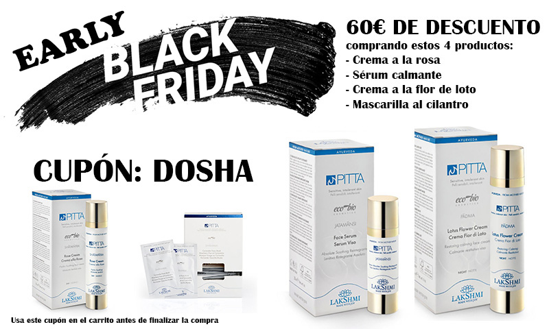 early black friday ayurveda cosmetica pitta